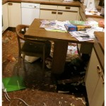 Zerstörung Küche, Griffe - Panik in Wohnung